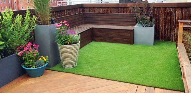 Commercial Artificial Grass Lawn Installation